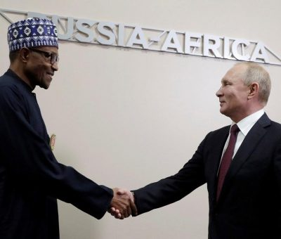 Scramble For Natural Resources: Putin Targets Africa, Meets With President Buhari, Others