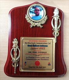 Outstanding Recognition: NAOSRE President Bags Leadership Award.