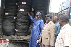 Substandard Products: SON Evacuates seized Inferior Tyres In Ogun State