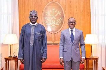 Resumption Of Duty: President Patrice Talon Receives NAOSRE Grand Patron, Ambassador Tukur Buratai, In Benin Republic