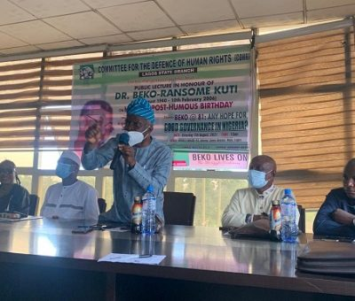 Human Rights Protection: CDHR Inducts NAOSRE On Beko Kuti's Posthumous Birthday
